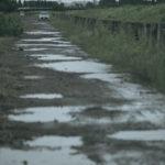 購入した土地に久々の現地入り。晴れた日と雨の日では全然違う姿に!?